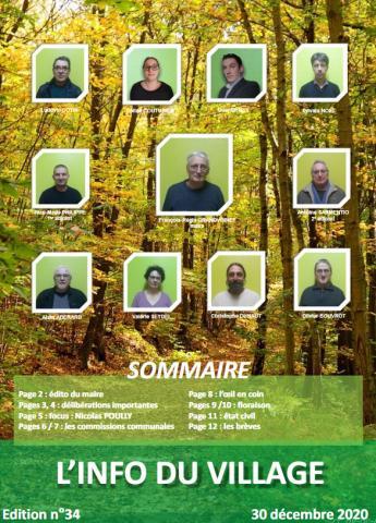 Edition n°34 du 30 décembre 2020